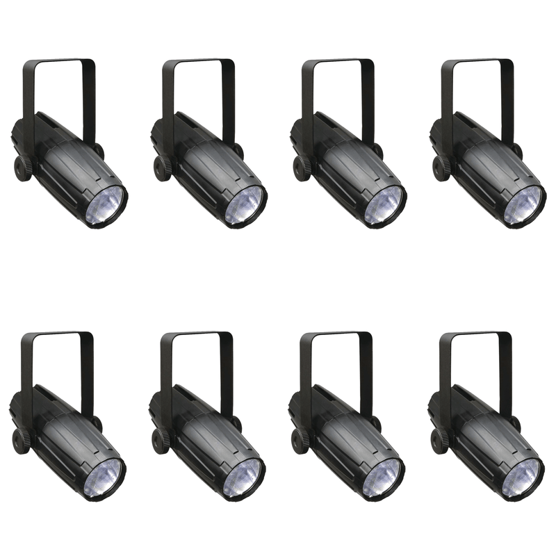 Chauvet LED Pinspot 2 Compact 3W White LED Light 8-Pack