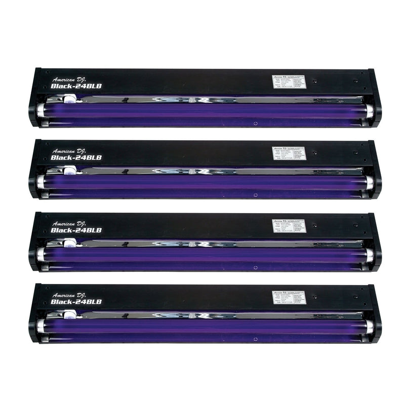 ADJ American DJ 24-in UV Black Light Fixture 4 Pack - PSSL ProSound and Stage Lighting