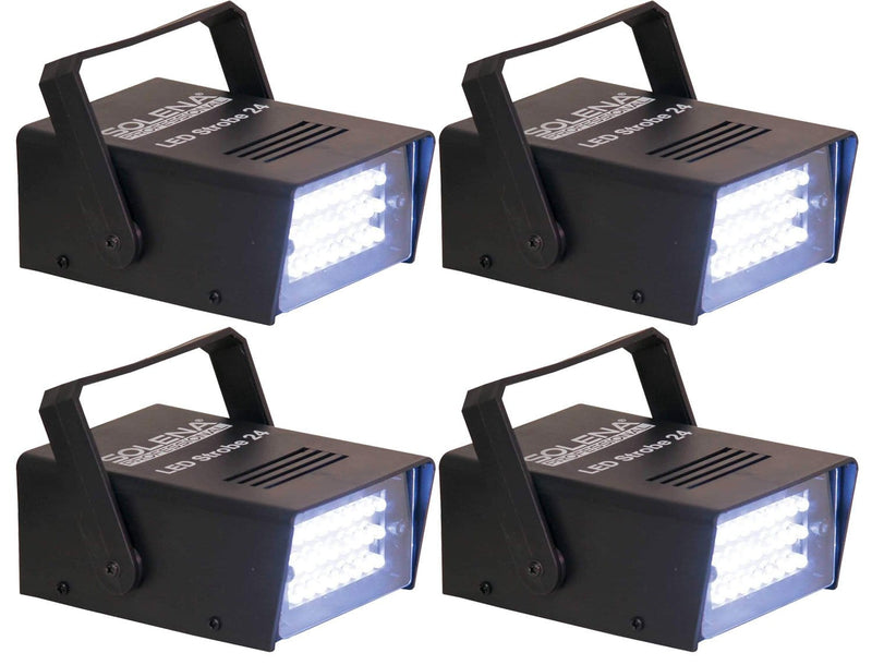 Solena Strobe 24 Adjustable LED Strobe Light 4-Pack - PSSL ProSound and Stage Lighting