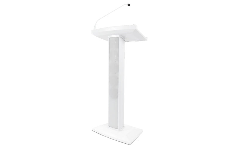 Denon Pro Amplified Speaker Lectern in White - PSSL ProSound and Stage Lighting