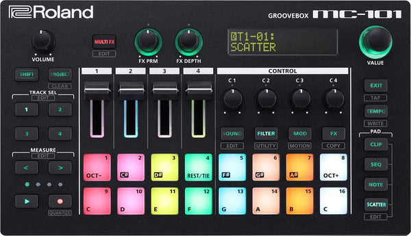 Roland MC-101 Groovebox Sequencer - PSSL ProSound and Stage Lighting