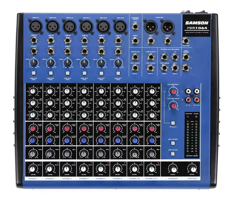 Samson MDR1064 Compact Mixer for Live orStudio Use - PSSL ProSound and Stage Lighting