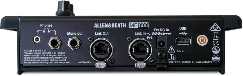 Allen & Heath ME-500 16-Channel Personal Monitor Mixer - PSSL ProSound and Stage Lighting