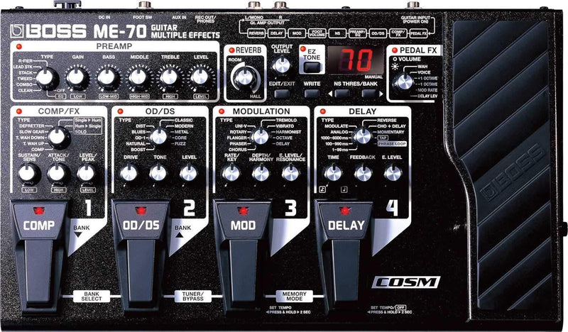 Boss ME70 Guitar Multi Effects Processor - PSSL ProSound and Stage Lighting