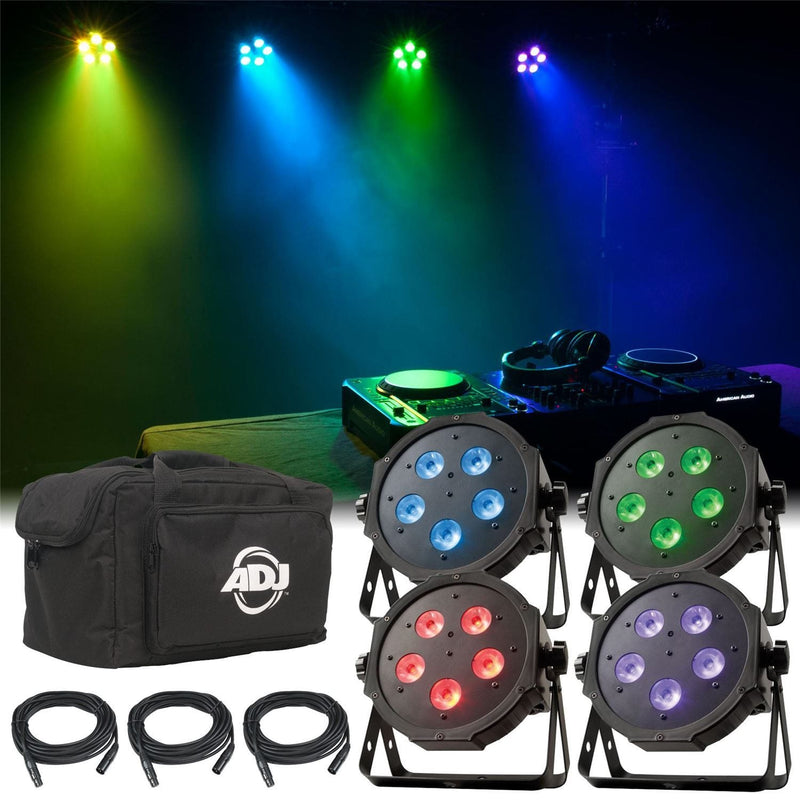 American DJ Mega Flat TRI Pak LED Par Light System - PSSL ProSound and Stage Lighting