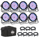 ADJ American DJ Mega Flat Pak 8 Plus LED Light System - PSSL ProSound and Stage Lighting