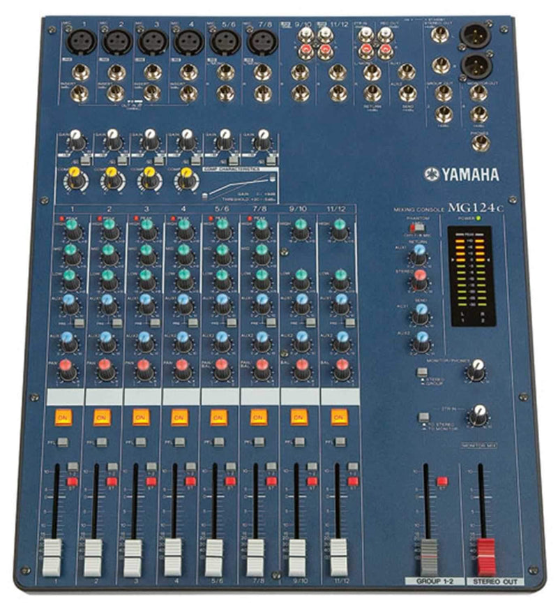 Yamaha MG124C 12Ch 4Bus Pa Mixer with Compression - PSSL ProSound and Stage Lighting
