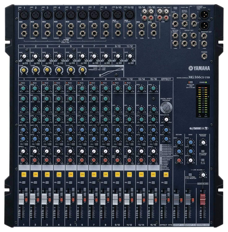 Yamaha MG166CX-USB 16-Ch USB Mixer with FX & Comp - PSSL ProSound and Stage Lighting