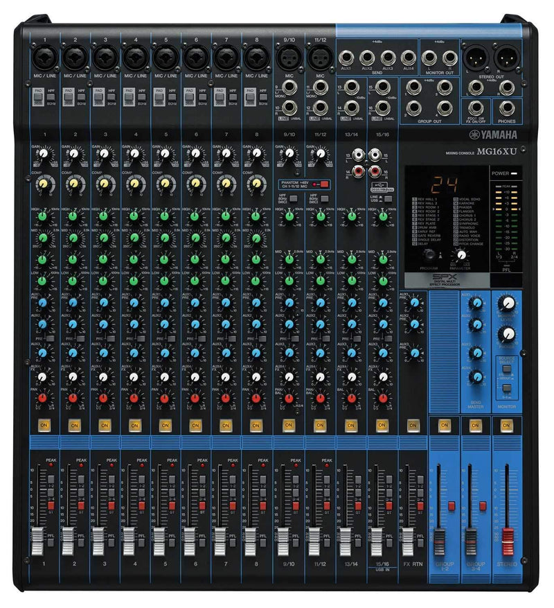 Yamaha MG16XU 16-Channel Mixer with USB Interface - PSSL ProSound and Stage Lighting