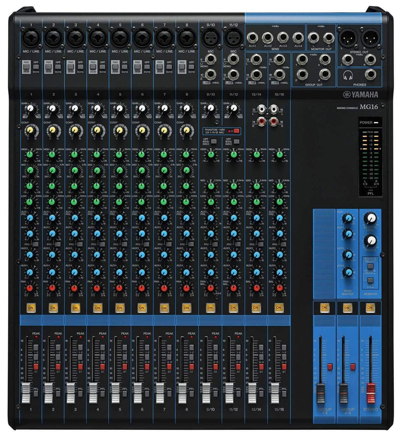 Yamaha MG16 16 Ch Live Sound PA Mixer - PSSL ProSound and Stage Lighting