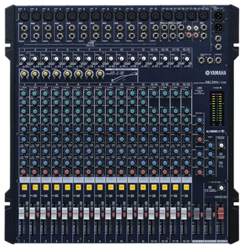 Yamaha MG206C-USB 20-Ch USB Mixer with Compression - PSSL ProSound and Stage Lighting