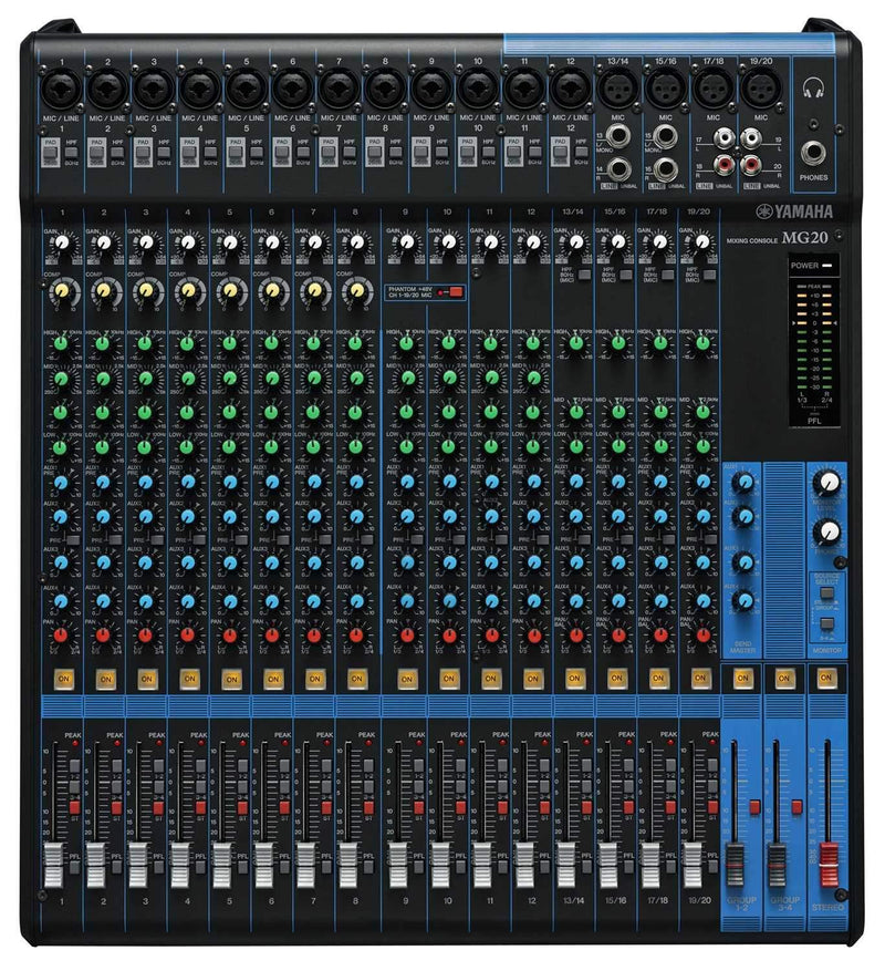 Yamaha MG20 20 In Live Sound PA Mixer - PSSL ProSound and Stage Lighting