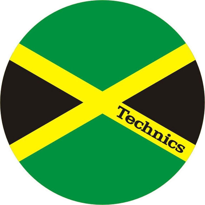 Technics Jamaika Slipmat - Jamaican Flag (Pair) - PSSL ProSound and Stage Lighting