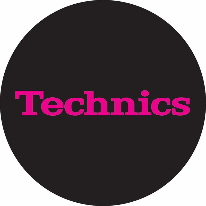Technics Non Glow Slipmat Pink/Black (Pair) - PSSL ProSound and Stage Lighting
