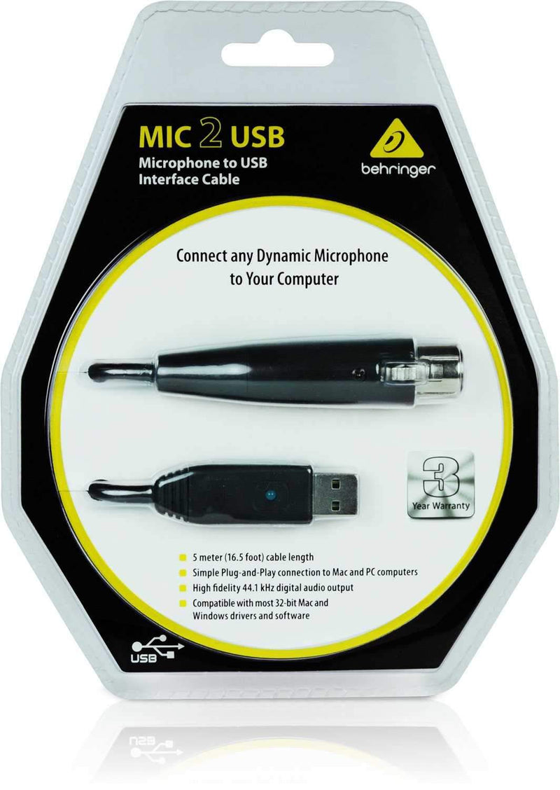 Behringer Mic 2 USB XLR to USB Audio Interface - PSSL ProSound and Stage Lighting