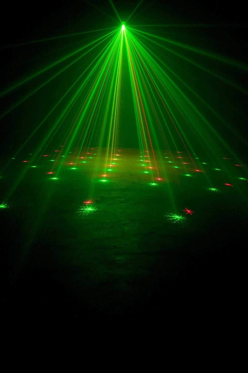 ADJ American DJ Micro Galaxian II Red & Green Laser Effect Light - PSSL ProSound and Stage Lighting