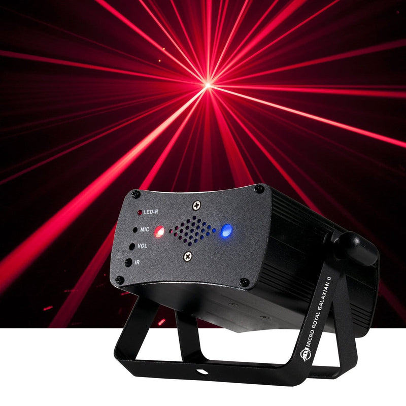 ADJ American DJ Micro Royal Galaxian II Blue and Red FX Laser - PSSL ProSound and Stage Lighting