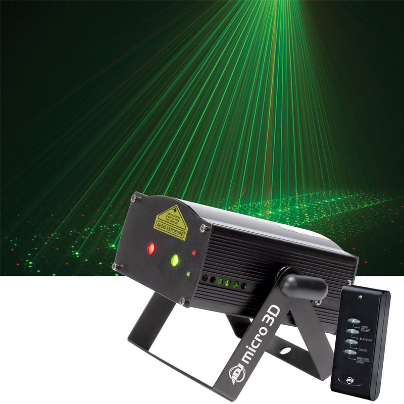 American DJ Micro 3D Red & Green 3D Laser Effect - PSSL ProSound and Stage Lighting