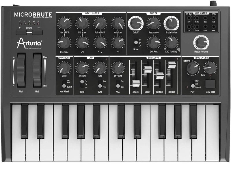 Arturia MicroBrute 25-Key Analog Synth - PSSL ProSound and Stage Lighting