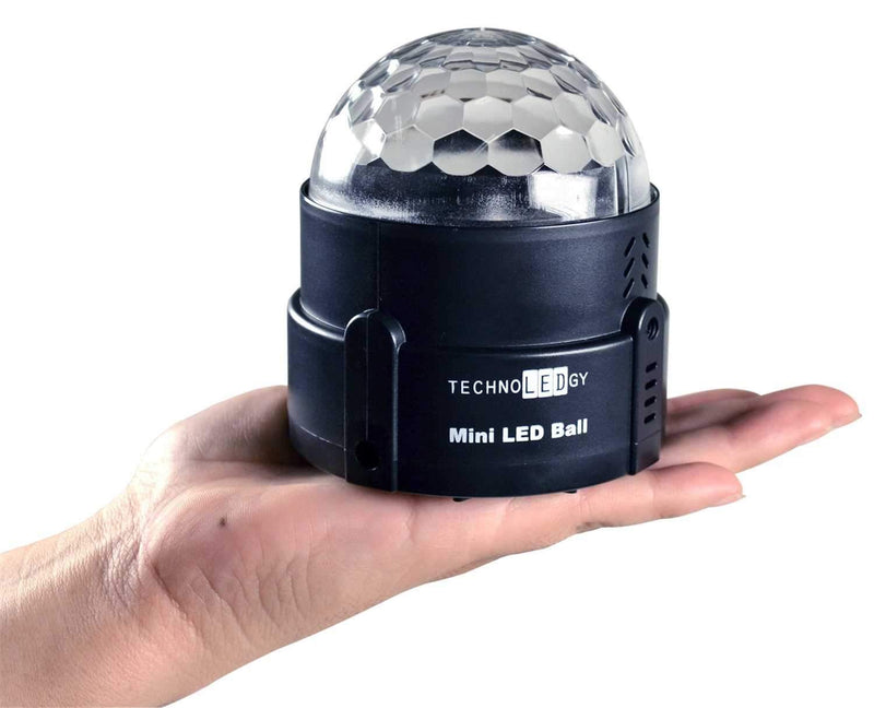 technoLEDgy Mini LED Ball 3w AC Effect Light - PSSL ProSound and Stage Lighting