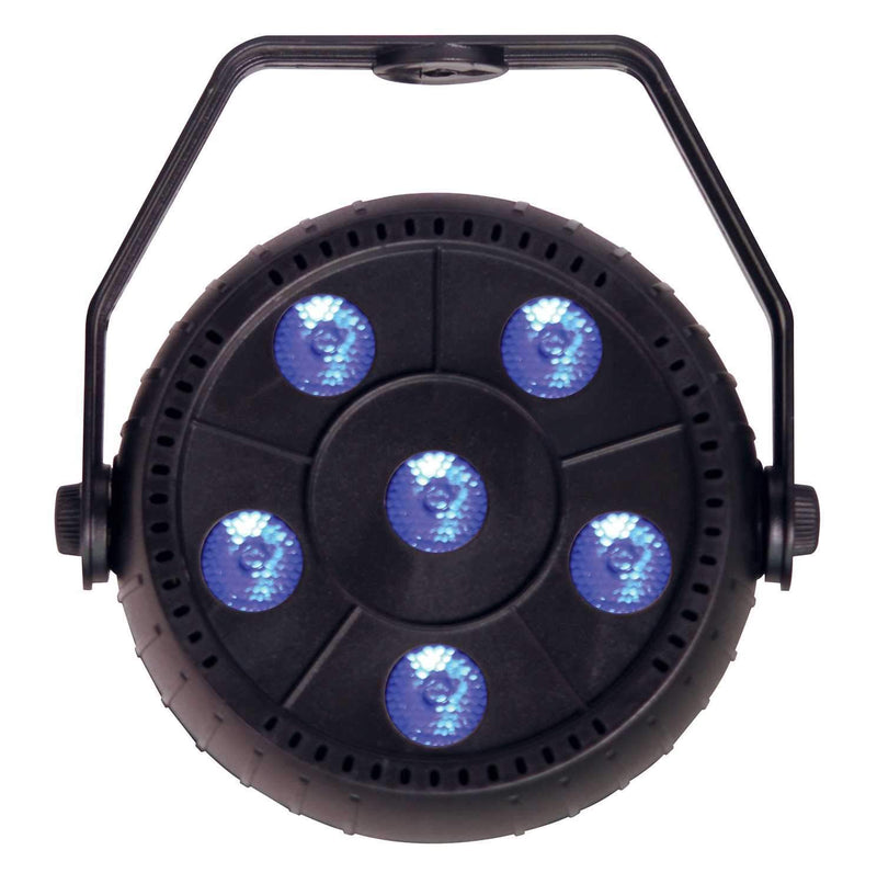 Solena Mini Par 9 6x1.5-Watt RGB LED Par Light - PSSL ProSound and Stage Lighting