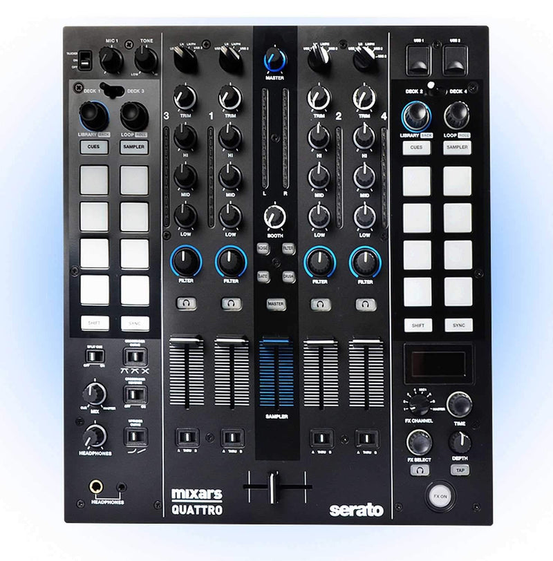 Mixars Quattro Official Serato DJ 4-Channel Mixer - PSSL ProSound and Stage Lighting