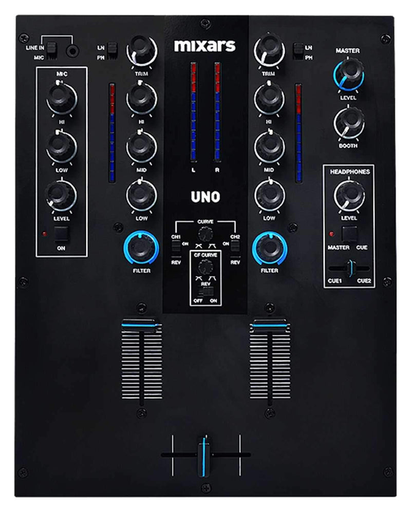 Mixars UNO 2-Channel Mixer with Galileo Crossfader - PSSL ProSound and Stage Lighting