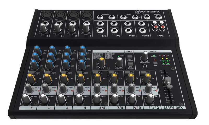 Mackie Mix12FX 12 Channel Compact PA Mixer - PSSL ProSound and Stage Lighting