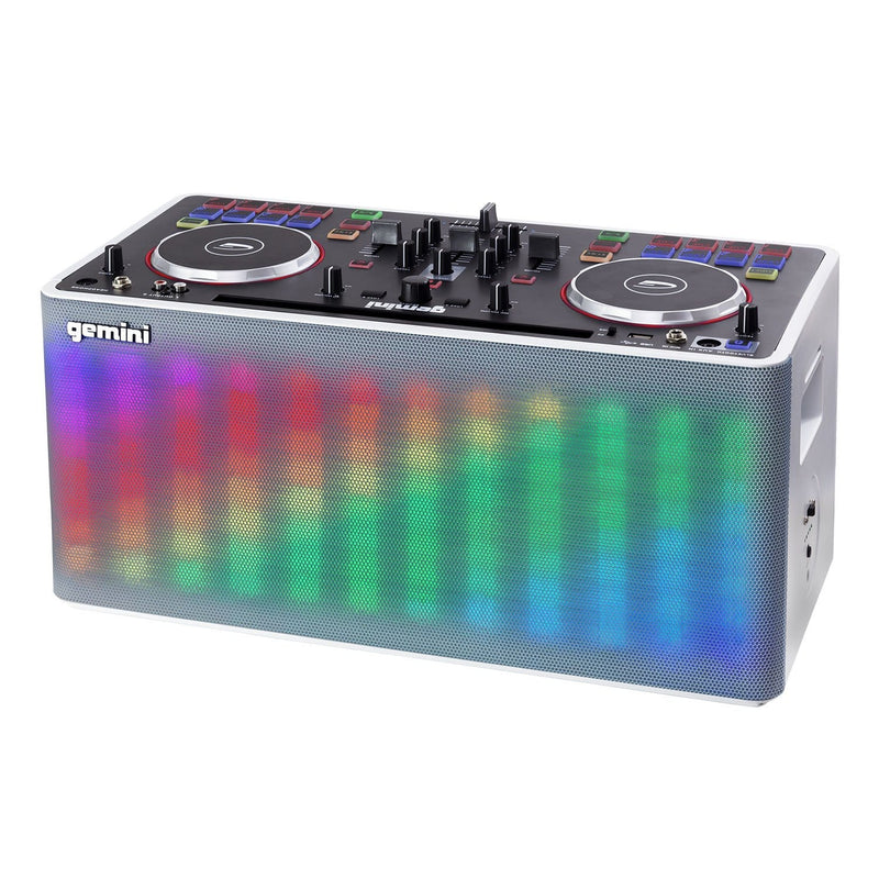 Gemini MIX2GO Portable DJ Controller with Built-In Speaker & Lights - PSSL ProSound and Stage Lighting