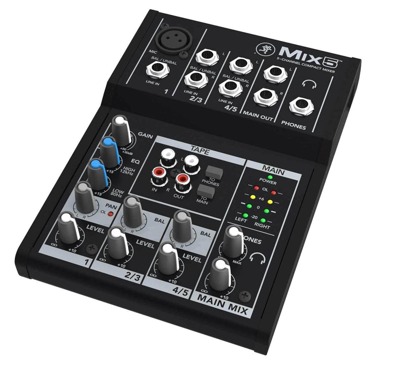 Mackie Mix5 5-Channel Compact Mixer - PSSL ProSound and Stage Lighting