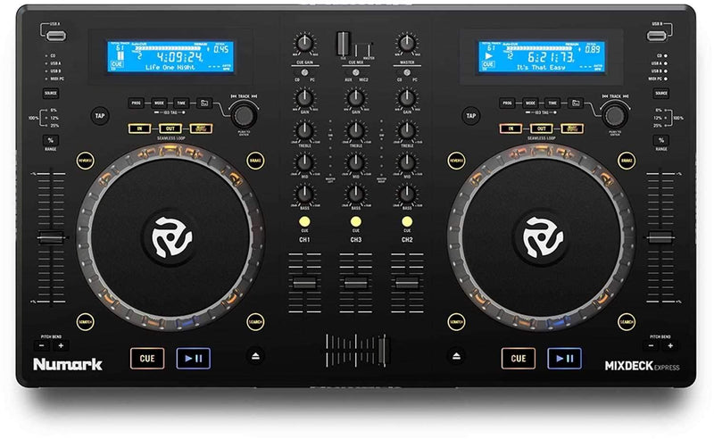 Numark Mixdeck Express DJ Controller with CD & USB Playback - PSSL ProSound and Stage Lighting