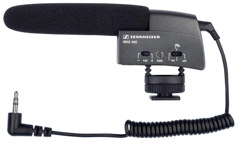 Sennheiser MKE-400 Compact Shotgun Mic For Camera - PSSL ProSound and Stage Lighting