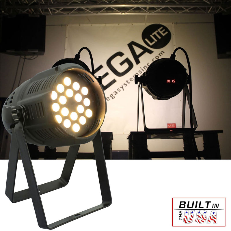 Mega Lite Unicolor CM5 Warm White 18x 3W LED Wash - PSSL ProSound and Stage Lighting