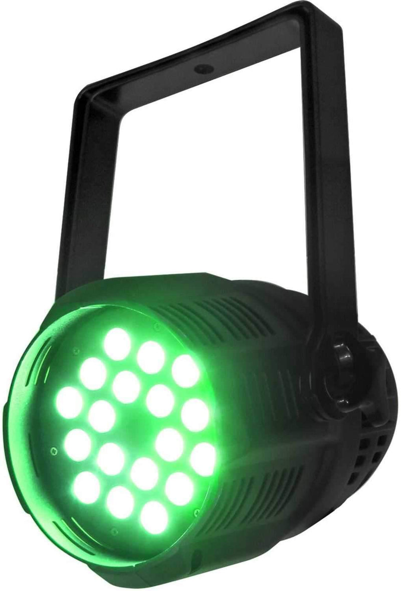 Mega Lite Unicolor CM5 Green 18x 3W LED Wash - PSSL ProSound and Stage Lighting