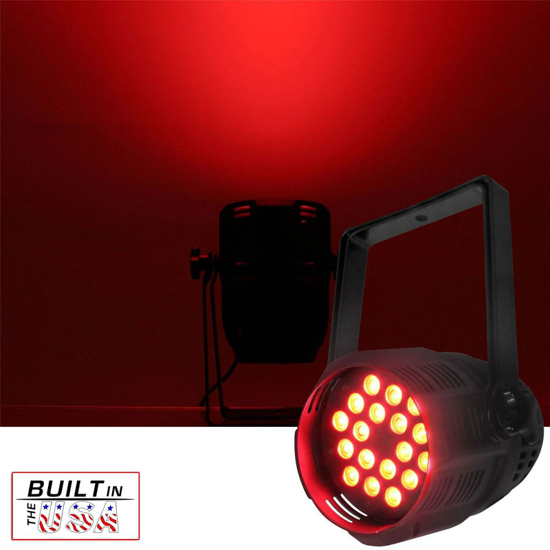Mega Lite Unicolor CM5 Red 18x 3W LED Wash - PSSL ProSound and Stage Lighting