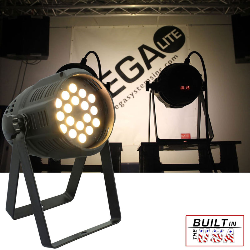 Mega Lite Unicolor CM5 Warm White 18x 5W LED Wash - PSSL ProSound and Stage Lighting