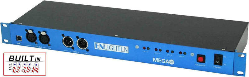 Mega Lite Enlighten DMX & Video Splitter - PSSL ProSound and Stage Lighting