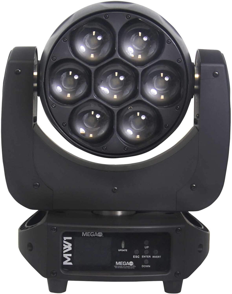 Mega Lite MW1 7 x 40W RGBW LED Moving Head Fixture - PSSL ProSound and Stage Lighting