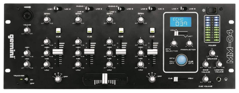 Gemini 4-Channel 19-Inch DJ Mixer With Dsp Fx - PSSL ProSound and Stage Lighting