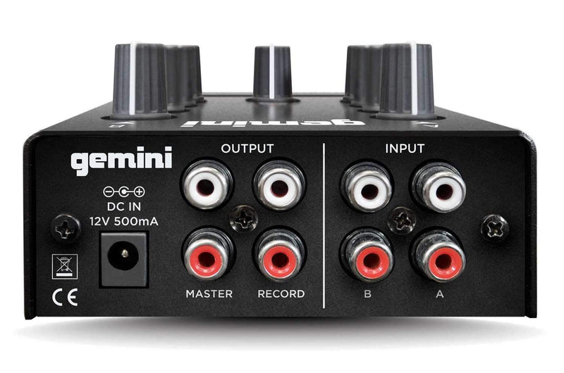 Gemini MM1 2 Channel Analog Mini DJ Mixer - PSSL ProSound and Stage Lighting