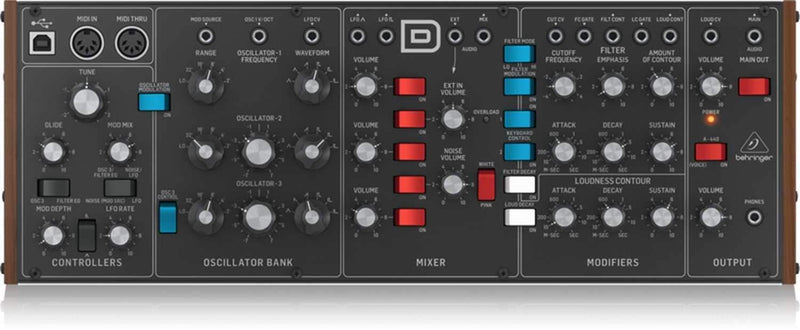 Behringer Model D Analog Synthesizer - PSSL ProSound and Stage Lighting