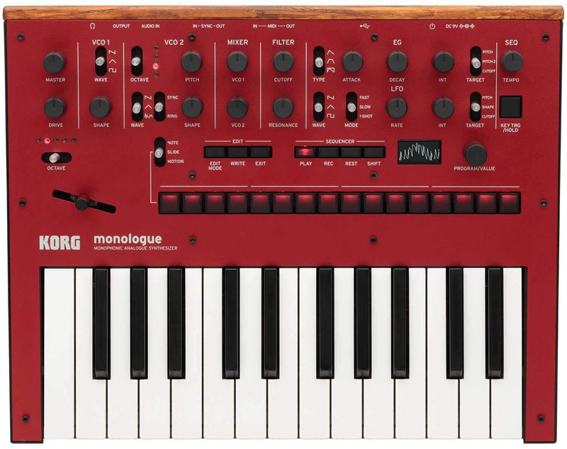 Korg Monologue Analog Monophonic Synth in Red - PSSL ProSound and Stage Lighting
