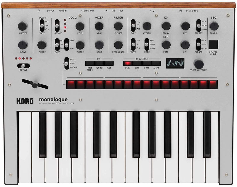 Korg Monologue Analog Monophonic Synth in Silver - PSSL ProSound and Stage Lighting