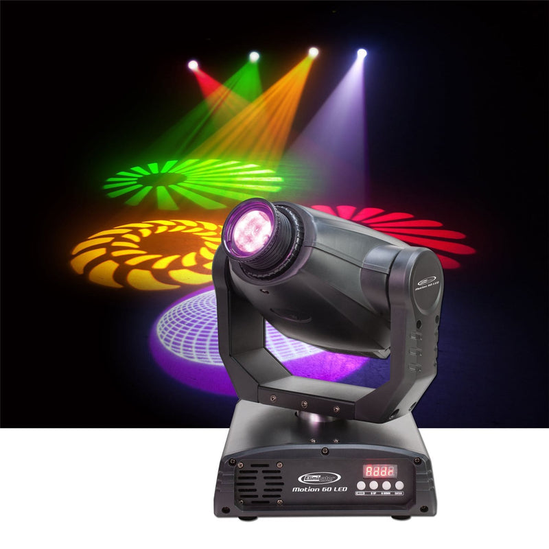 Eliminator Motion 60 LED Moving Head Spot Light - PSSL ProSound and Stage Lighting