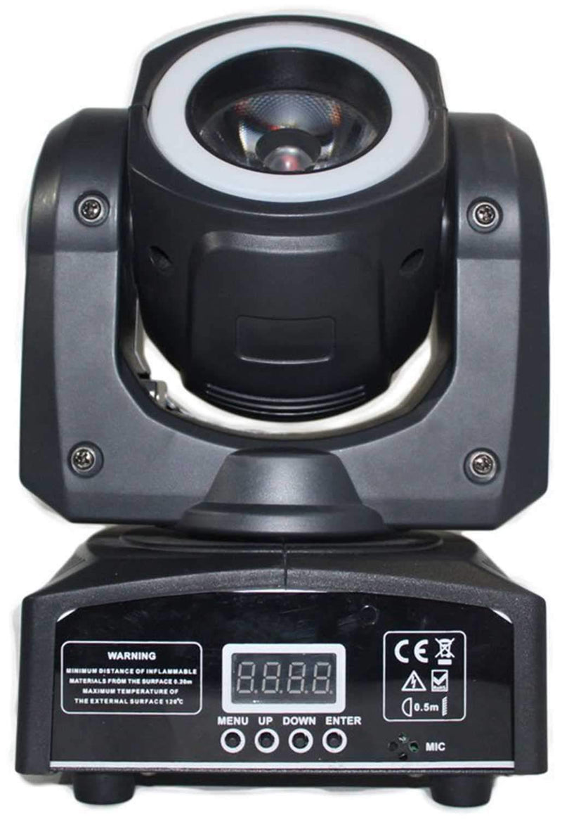 ColorKey Mover Halo Beam QUAD RGBW LED Moving Head with Effect Ring - PSSL ProSound and Stage Lighting