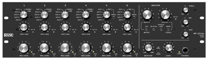 RANE MP2016A 19-Inchclub DJ Mixer Rotary Knobs - PSSL ProSound and Stage Lighting