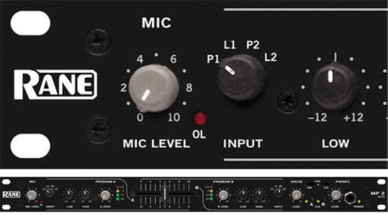 RANE MP2 1-Space DJ Mixer - PSSL ProSound and Stage Lighting