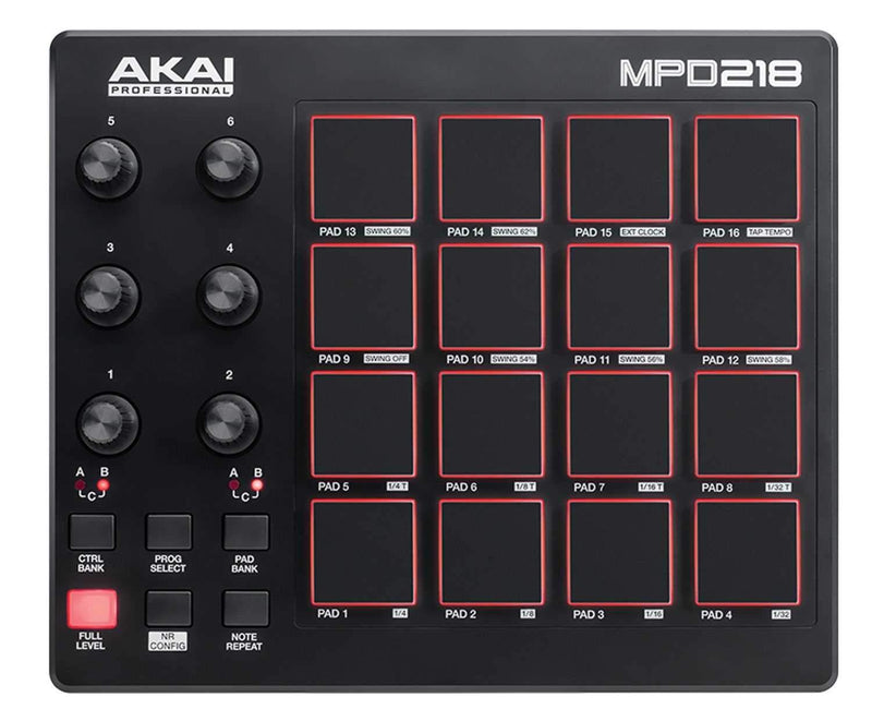 Akai MPD218 Midi USB Pad Controller - PSSL ProSound and Stage Lighting