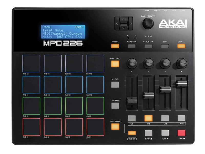Akai MPD226 Midi USB Pad Controller - PSSL ProSound and Stage Lighting