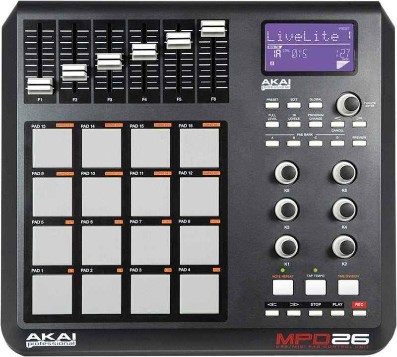 Akai MPD26 USB Midi MPC Pad Controller - PSSL ProSound and Stage Lighting